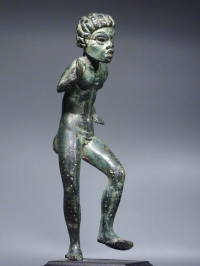 Hellenistic Bronze figure of a dancing Nubian youth