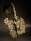 Greek bronze Siren. Hydria handle
