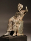 Roman bronze seated Zeus.