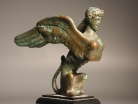Greek Classical bronze sphinx.