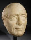 Roman marble portrait head of a man.