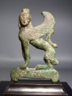 Greek Archaic bronze Sphinx.