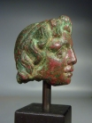 Hellenistic bronze head of Alexander the Great.