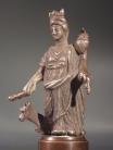 Roman silver figurine of Tyche-Fortuna.