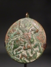 Byzantine bronze medallion with the Holy Rider.